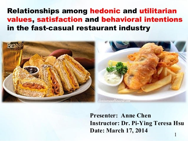 Relationships among hedonic and utilitarian values, satisfaction and behavioral intentions in the fast-casual restaurant i...