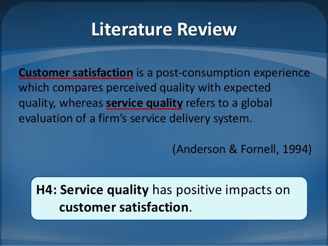 service quality and customer satisfaction relationship Examining the relationship between service quality and customer satisfaction: a factor specific approach.