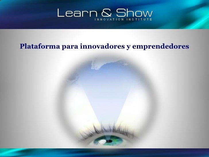 Plataforma para innovadores y emprendedores