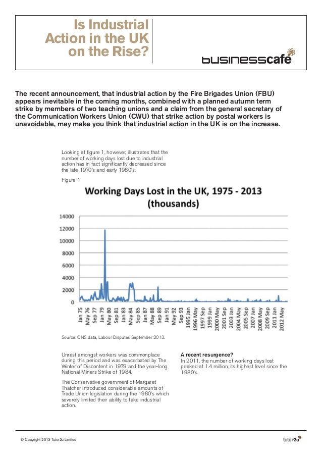 Is Industrial Action in the UK on the Rise? The recent announcement, that industrial action by the Fire Brigades Union (FB...