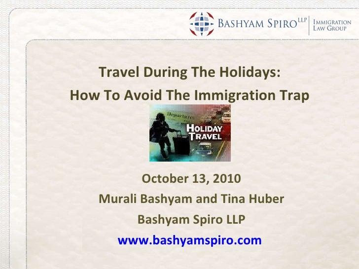Webinar International Holiday Travel Tips for Immigrants