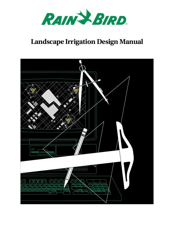 Landscape Irrigation Design Manual