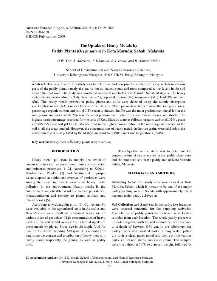 American-Eurasian J. Agric. & Environ. Sci., 6 (1): 16-19, 2009ISSN 1818-6769© IDOSI Publications, 2009                   ...