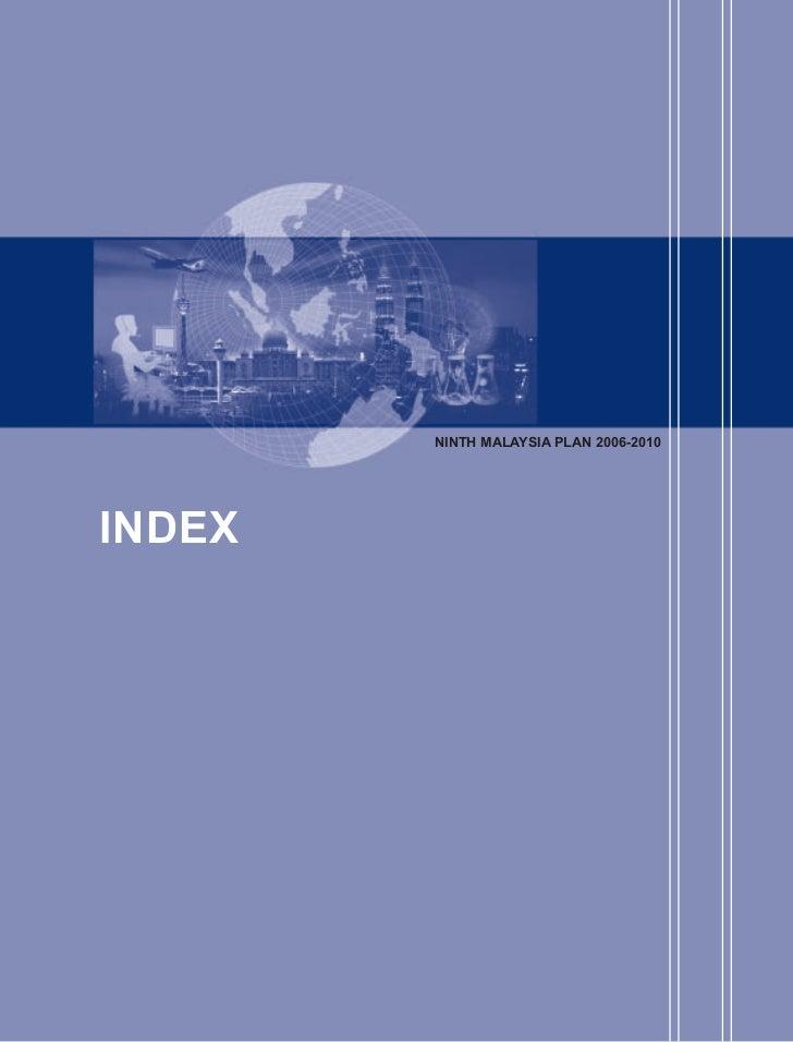 NINTH MALAYSIA PLAN 2006-2010INDEX