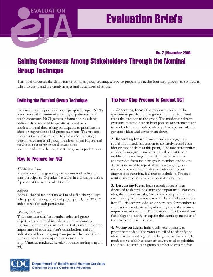 Evaluation Briefs                                                                                              No. 7   Nov...