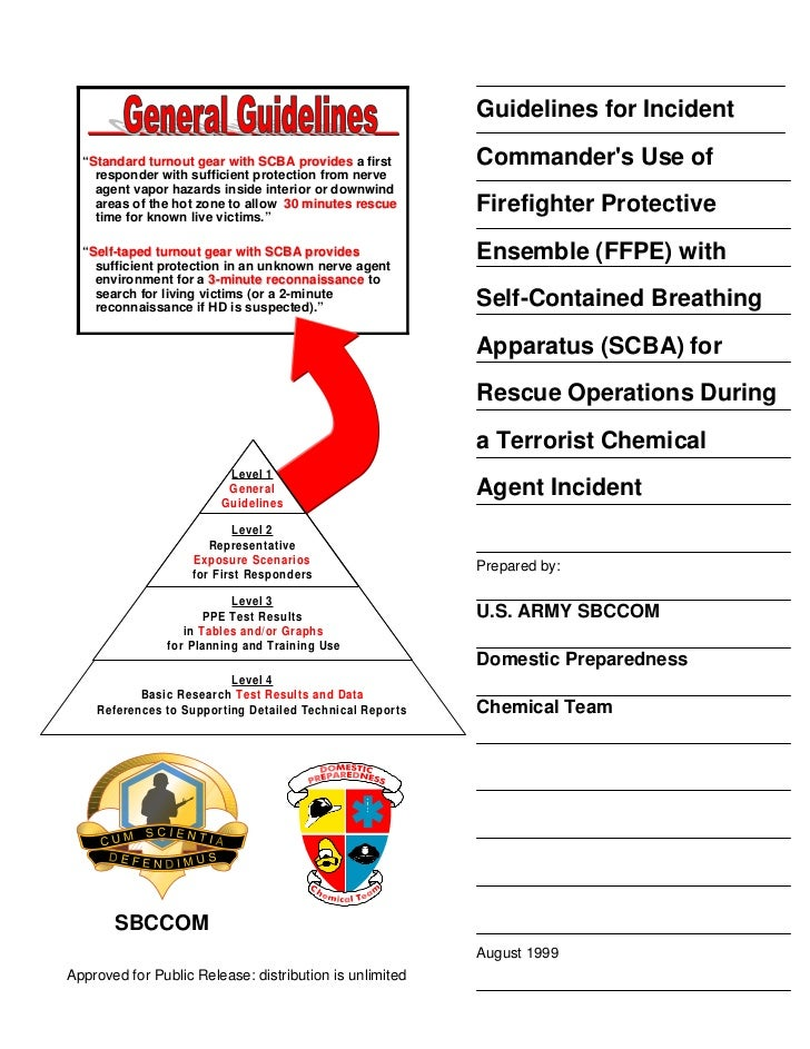 """Guidelines for Incident  """"Standard turnout gear with SCBA provides a first   Standard                                     ..."""