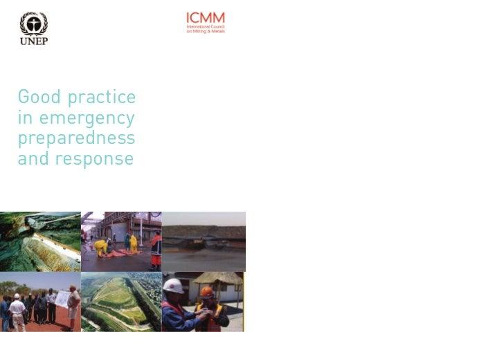 Good practicein emergencypreparednessand response