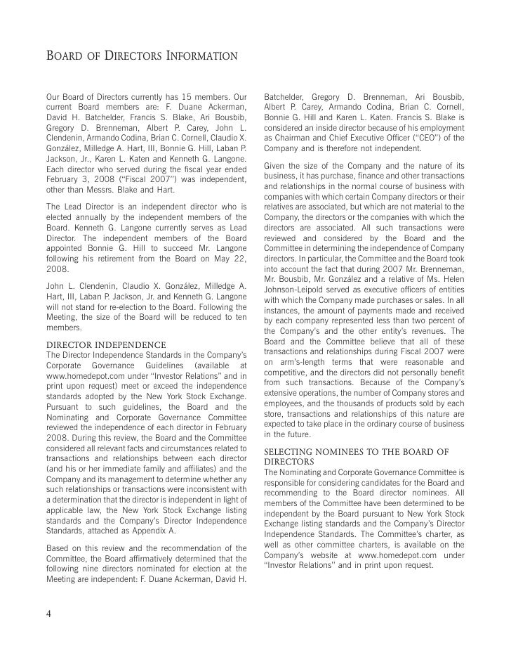 ELECTION            DIRECTORS                DIRECTOR BIOGRAPHIES                OF                     AND (ITEM 1   ON T...