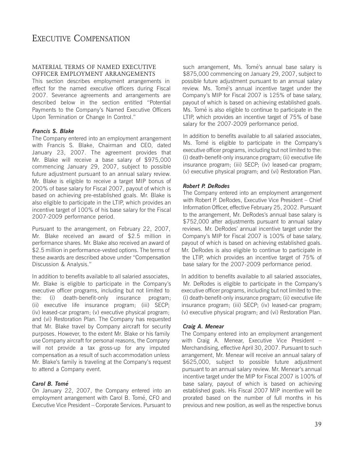 home depot 2008 Proxy Statement
