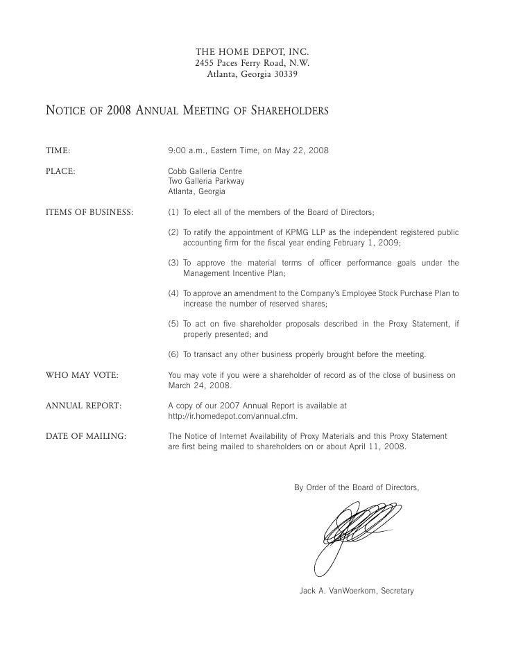 ABOUT             2008 ANNUAL MEETING                        SHAREHOLDERS            THE                                  ...