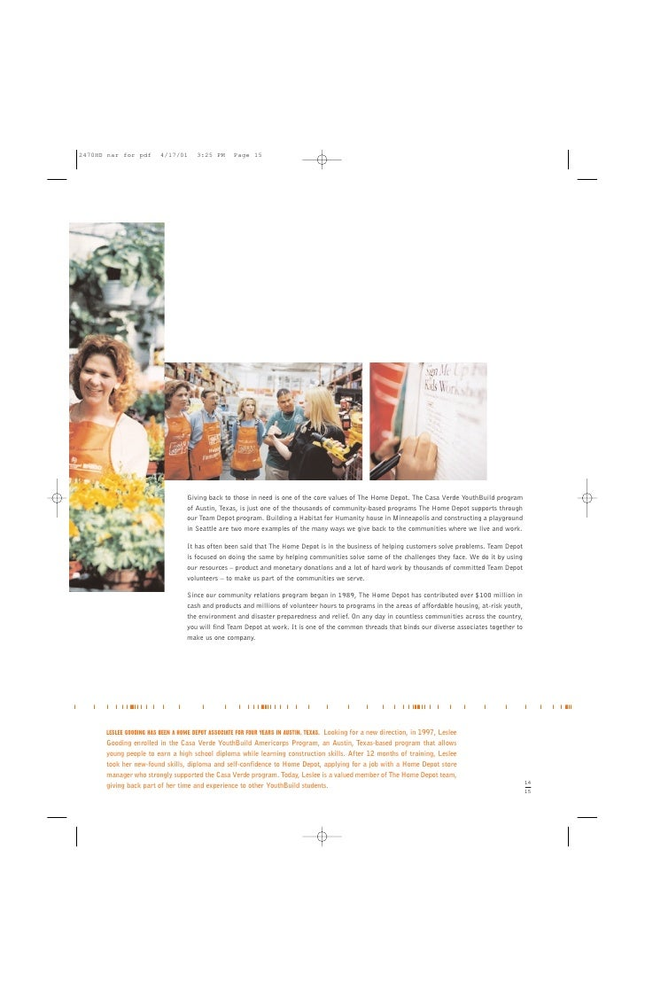 Home depot annual report 2000 17 biocorpaavc