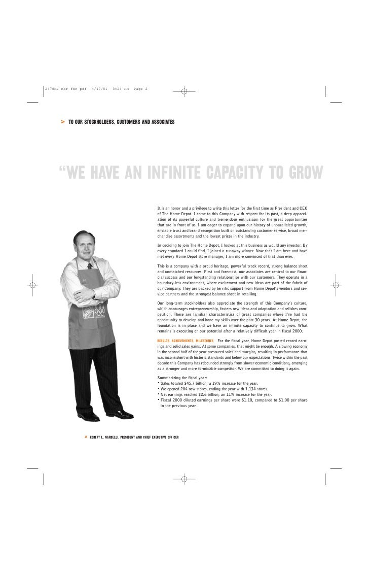 Home depot annual report 2000 4 biocorpaavc