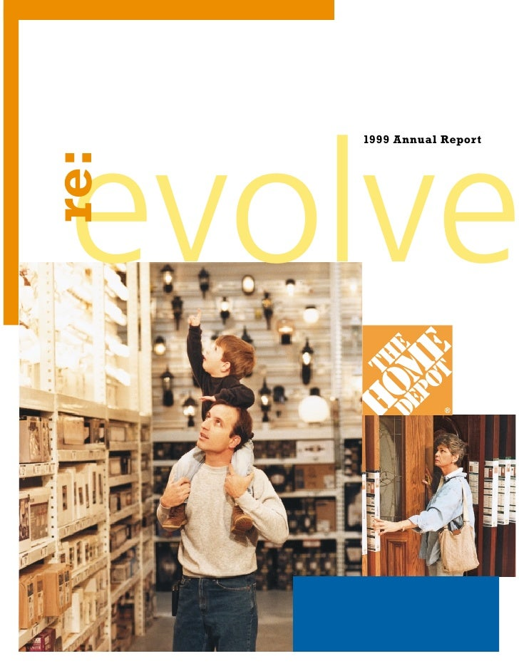 Home Depot Annual Report 1999