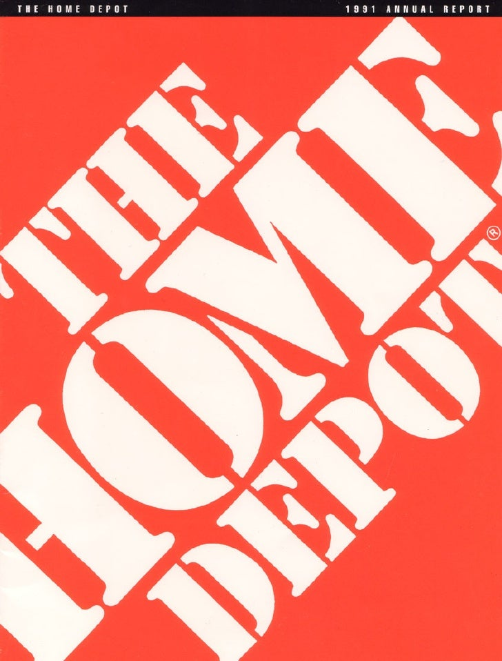 home depot Annual Report 1991