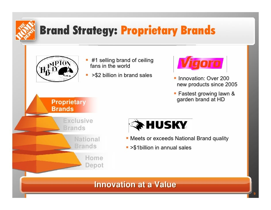 home depot market brand How home depot's marketing strategy is paying off november 13,  what online marketing tools does home depot use home depot markets their brand through:.