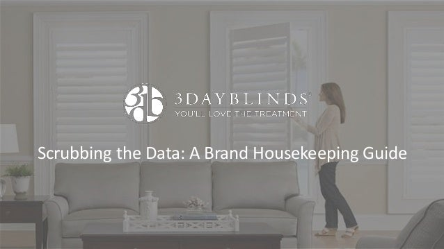Scrubbing the Data: A Brand Housekeeping Guide