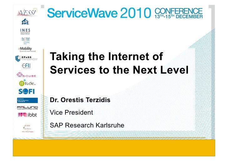Orestis Terzidis - Taking the Internet of Services to the Next Level