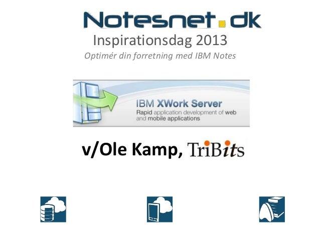 Inspirationsdag 2013Optimér din forretning med IBM Notesv/Ole Kamp, TriBits