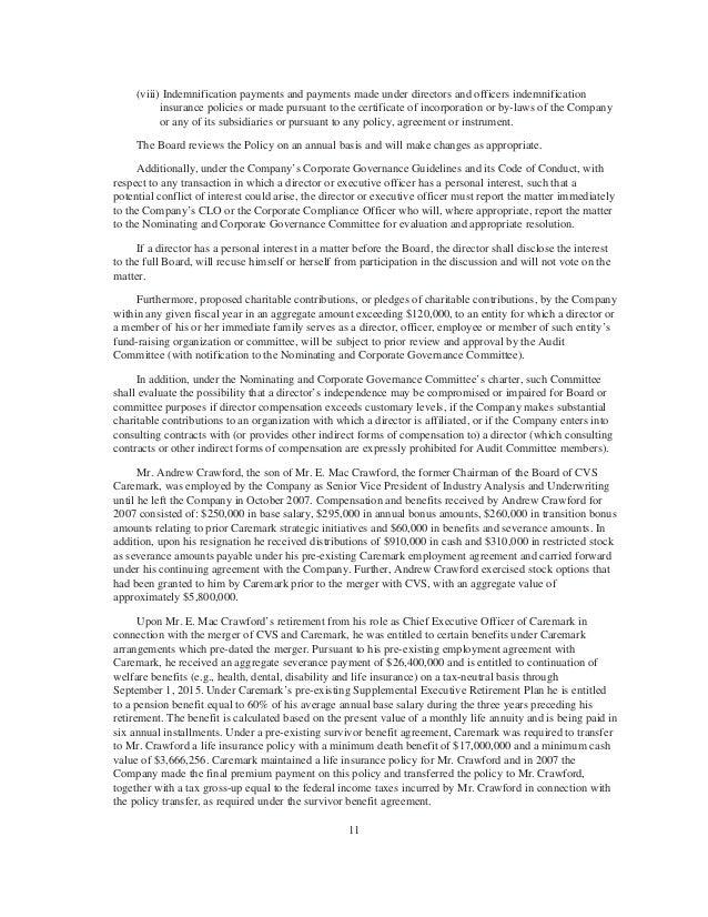 Cvs caremark 2008 proxy statement 10 14 fandeluxe Gallery