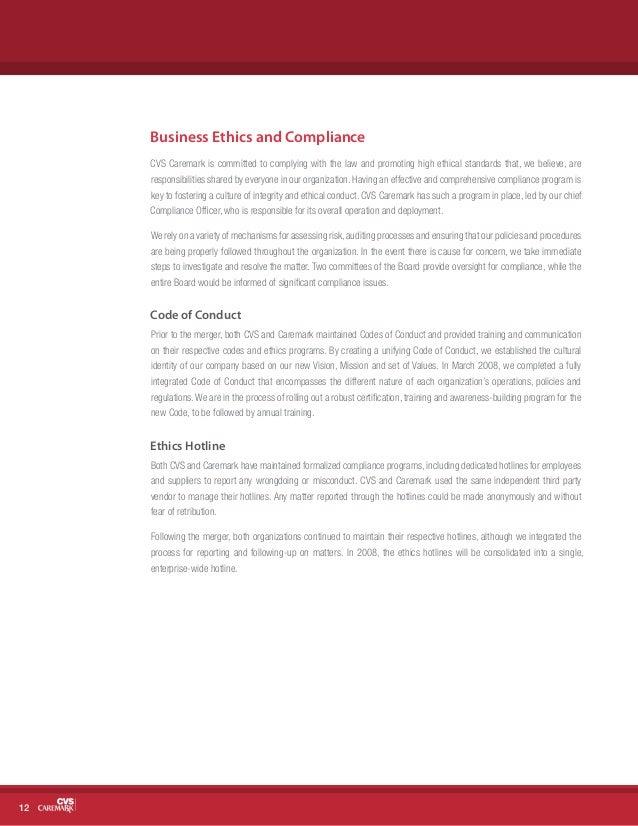 Business Ethics CVS