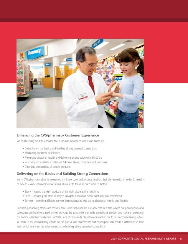 cvs caremark 2007 corporate social responsibility report