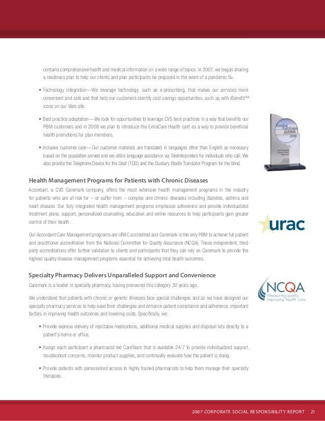 CVS Caremark 2007 Corporate Social Responsibility Report