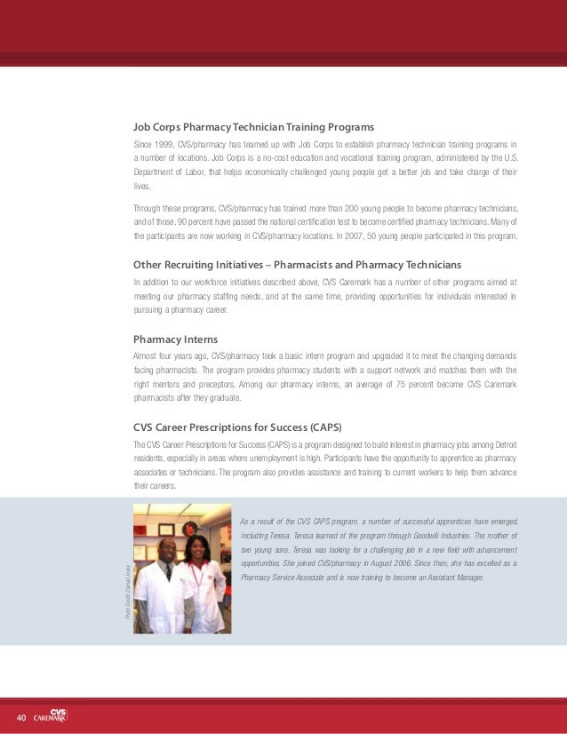 cvs caremark 2007 corporate social responsibility report cvs pharmacy technician job - Cvs Pharmacy Technician Job