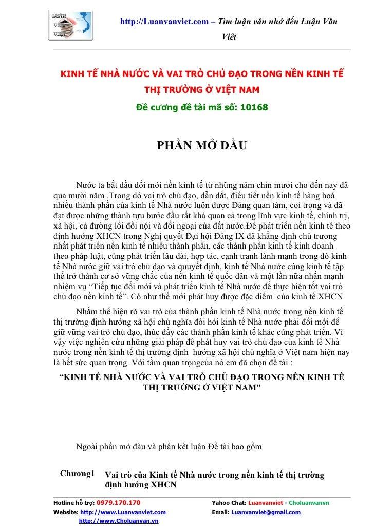 http://Luanvanviet.com – Tìm luận văn nhớ đến Luận Văn                                                 Việt      KINH TẾ N...