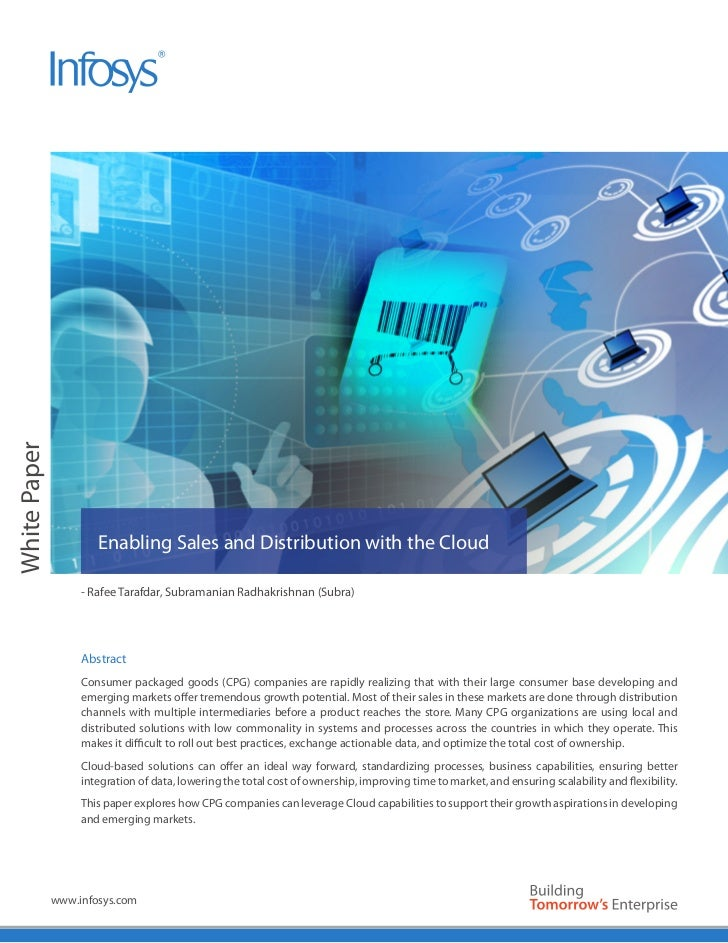 White Paper                      Enabling Sales and Distribution with the Cloud                   - Rafee Tarafdar, Subram...