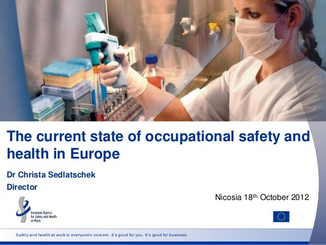 The current state of occupational safety andhealth in EuropeDr Christa SedlatschekDirector                                ...