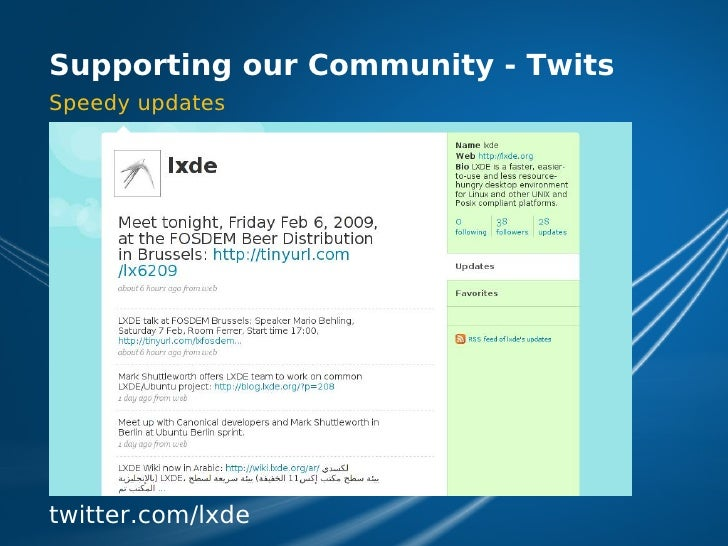 LXDE Presentation at FOSDEM 2009
