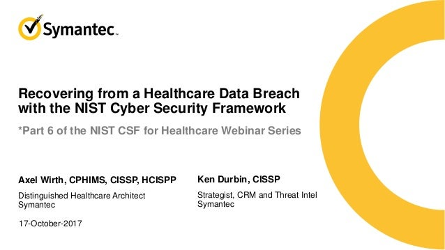 How to Use the NIST CSF to Recover from a Healthcare Breach