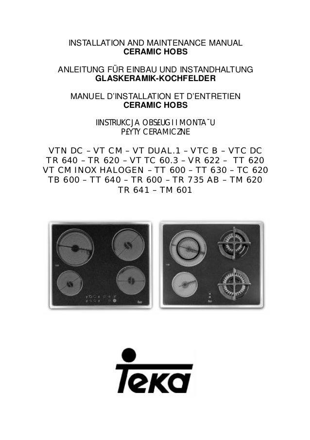 Manual vitroceramica teka tt 600