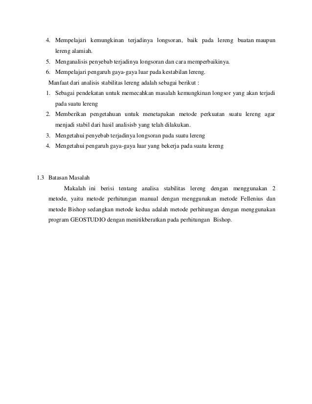 101830804 laporan tugas stabilitas lereng 1 rh slideshare net