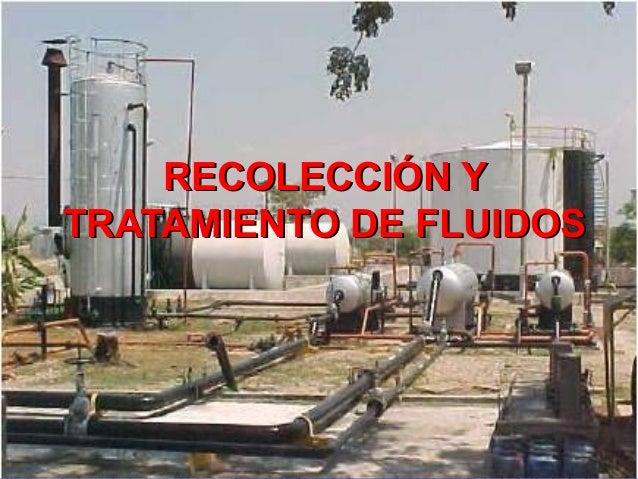 RECOLECCIÓN YRECOLECCIÓN Y TRATAMIENTO DE FLUIDOSTRATAMIENTO DE FLUIDOS