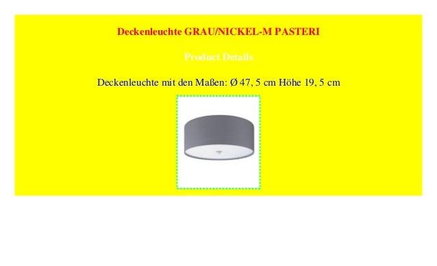Deckenleuchte Grau Nickel M Pasteri