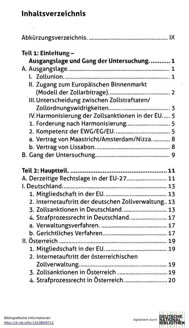Inhaltsverzeichnis Abkürzungsverzeichnis IX Teil 1: Einleitung- Ausgangslage und Gang der Untersuchung 1 A. Ausgangslage 1...