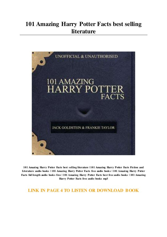 101 Amazing Harry Potter Facts Best Selling Literature