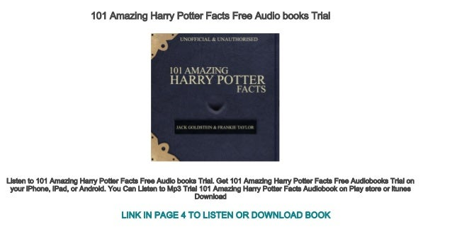 harry potter audio books free download