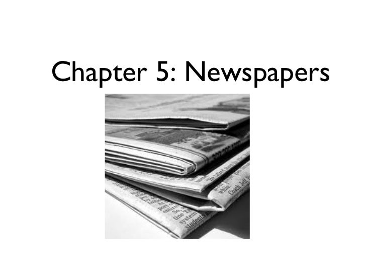 Chapter 5: Newspapers