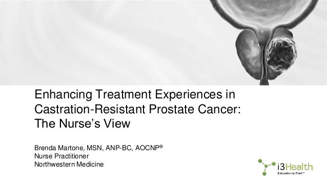 Enhancing Treatment Experiences in Castration-Resistant Prostate Cancer: The Nurse's View Brenda Martone, MSN, ANP-BC, AOC...