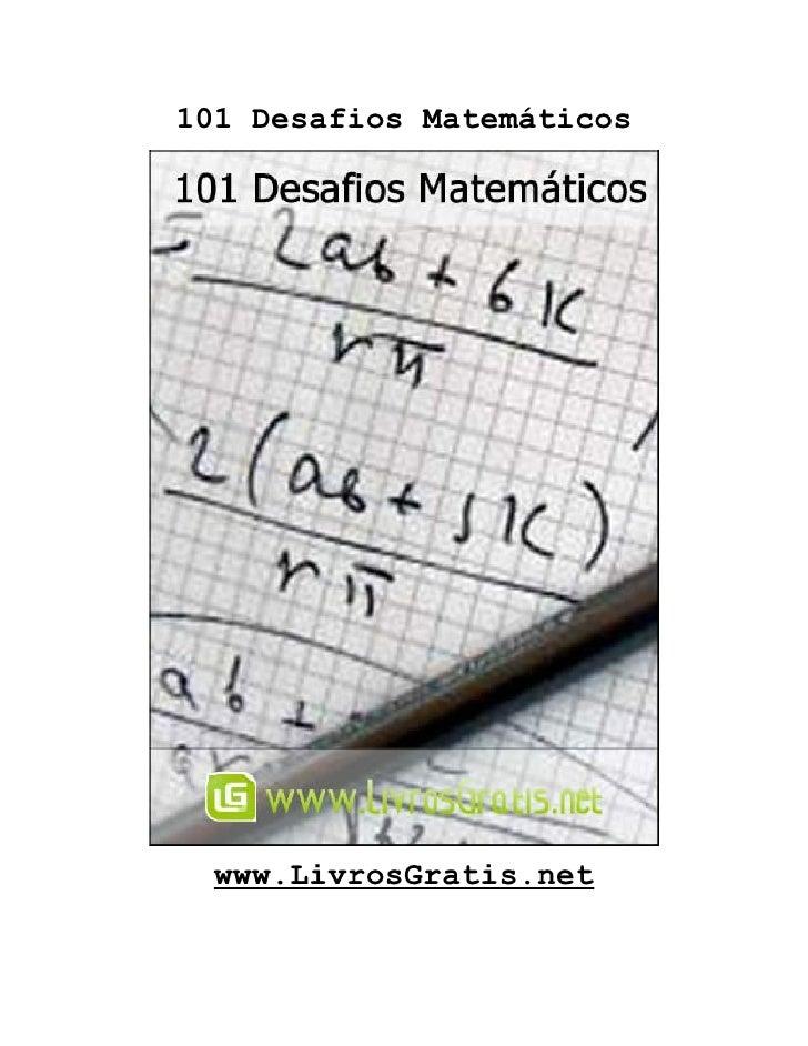 101 Desafios Matemáticos  www.LivrosGratis.net