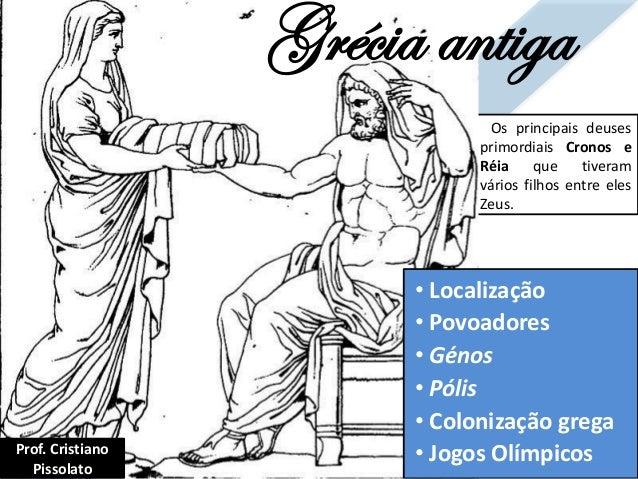 Grécia antiga • Localização • Povoadores • Génos • Pólis • Colonização grega • Jogos Olímpicos Os principais deuses primor...