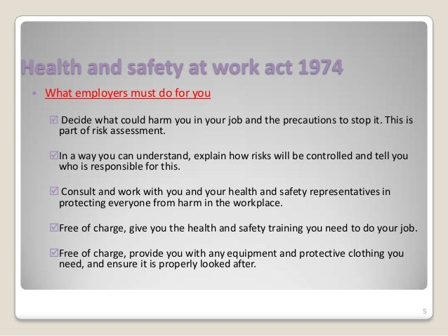 health and safety unit 306 The care certificate worboo standard 13 2 health and safety legislation relating to general health and safety in health and social care the main reason for health.