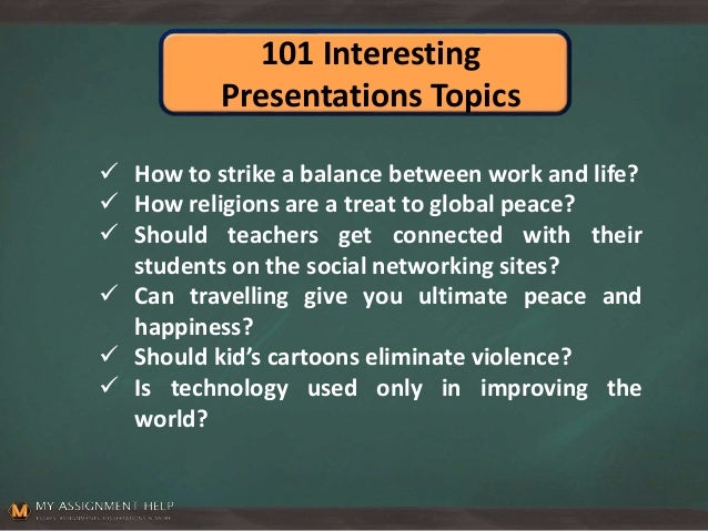 Golden rules for picking up topics for presentation