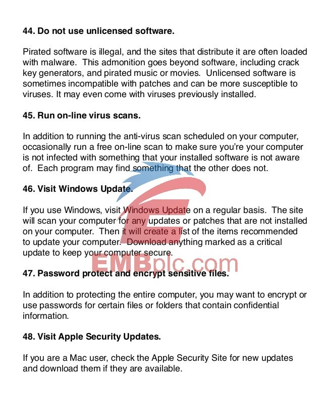 101 Internet Security Tips Ebook - Know How To Protect Your