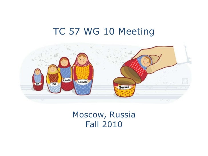 TC 57 WG 10 Meeting   Moscow, Russia     Fall 2010