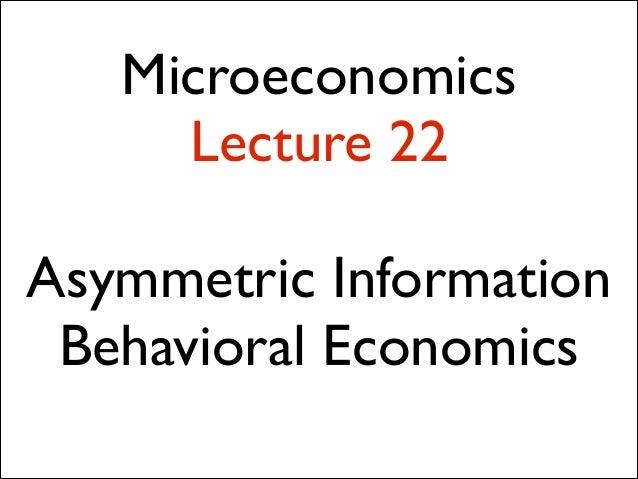 101 lecture 22 behavioral economics