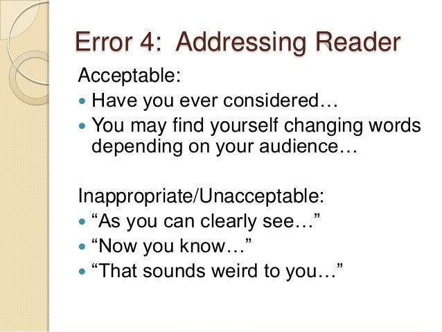 literacy narrative drafts  recurring errors