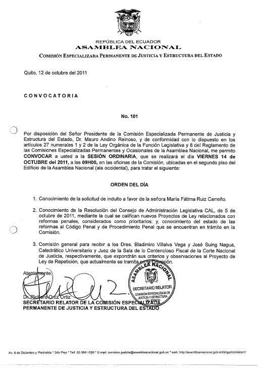 Comisión de Justicia Sesión No.101